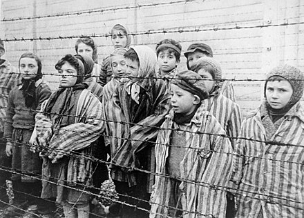 Prisoners held at a Nazi concentration camp.