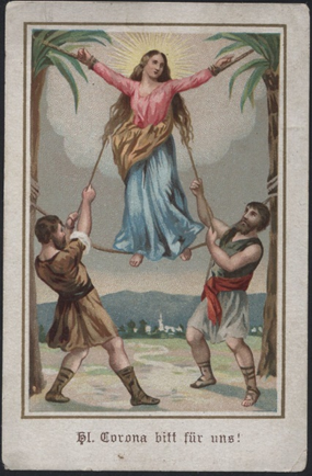 The martyrdom of St. Corona