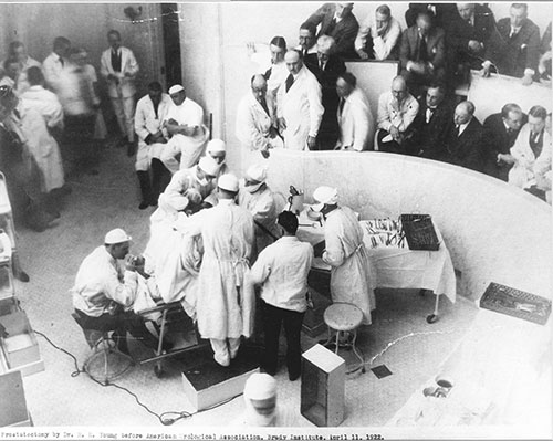 Dr. Young in Surgery, 1922